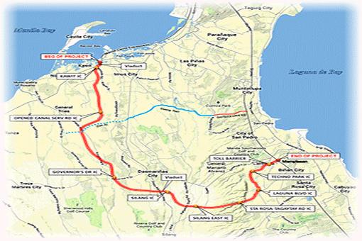 Cavite-Laguna Expressway (CALAX) Alignment