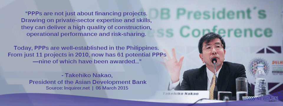 ADB President acknowledges values of PPPs