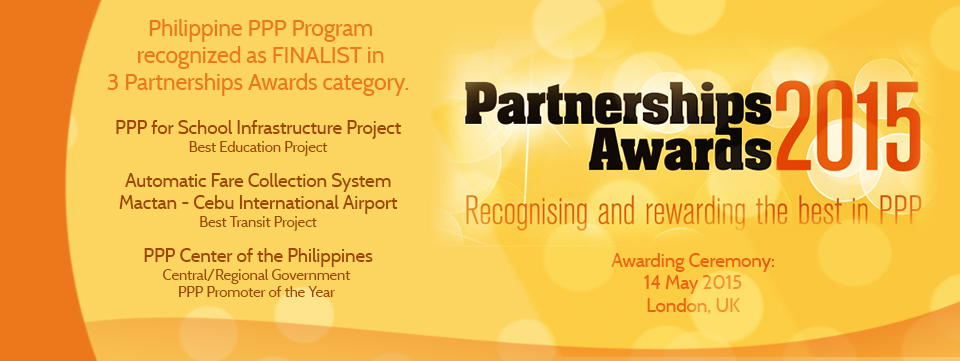 The PPP Center earned international recognition as The Asset's Agency of the Year through its first Triple A Asia Infrastructure Awards 2015 last August.