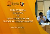 Ceremonial Signing of MoU between PNOC Renewal Corporation and the PPP Center