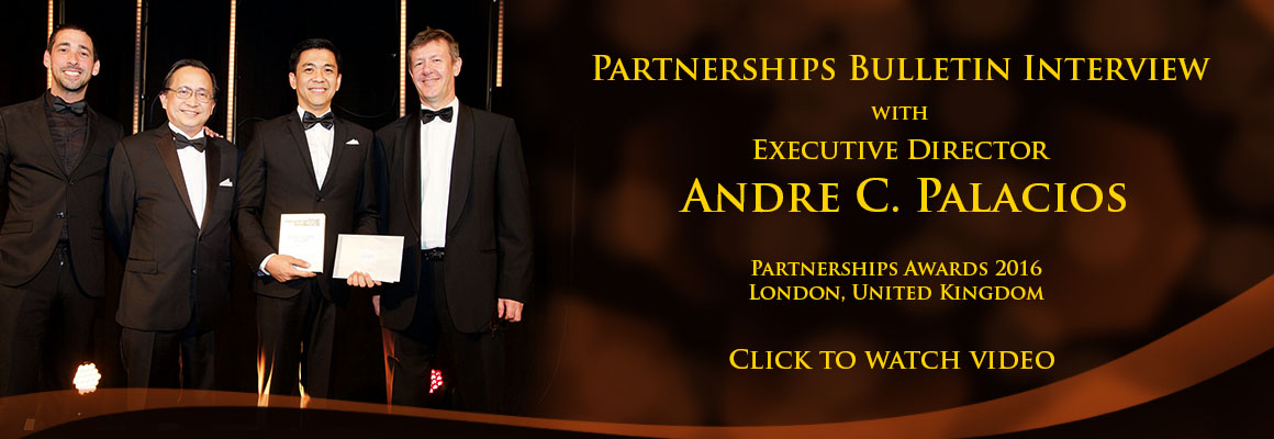 Partnerships Bulletin video interview with andre palacios banner