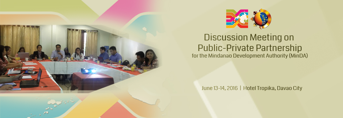 PPP discussion on PPP with Mindanao Development Authority