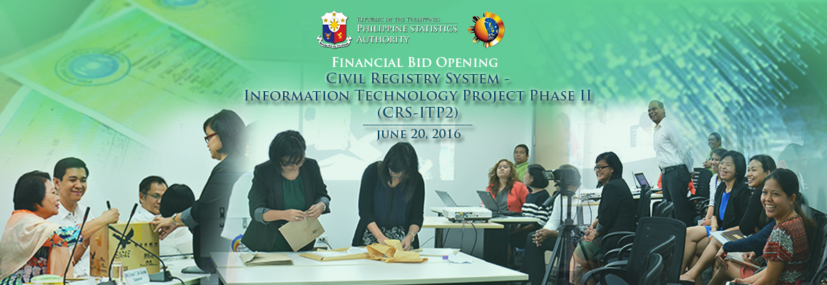 Financial bid opening for CRS IT Project Phase II