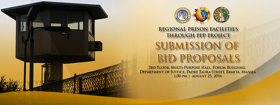 Regional Prison Facility - Bid Submission for Aug 25