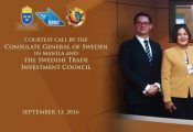 Courtesy call by the Consulate General of Sweden in Manila and the Swedish Trade Investment Council