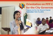Orientation on PPP Concepts and Processes for the City Government of CDO
