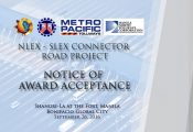 NLEx-SLEx Connector Road Project Notice of Award Ceremony