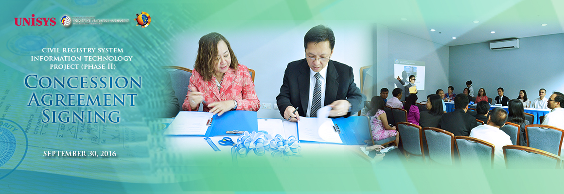 Concession Agreement Signing for Civil Registry System IT Project (Phase II)
