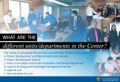 What are the different units /departments in the PPP Center?
