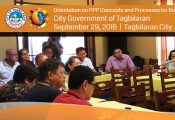 Orientation on PPP Concepts and Processes for the City Government of Tagbilaran