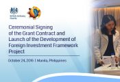 Ceremonial Signing of the Grant Contract and Launch of the Development of Foreign Investment Framework Project