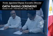 Oath-taking of newly appointed PPPC Deputy Executive Director Ricote