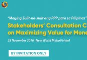 Stakeholders' Conference on Maximizing Value for Money in PPPs