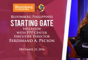 Bloomberg TV Philippines Starting Gate interview with Executive Director Pecson