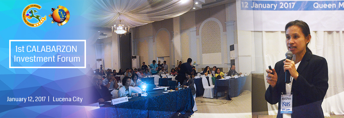 1st CALABARZON Investment Forum