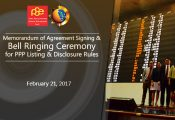 PPP Center, PSE sign MOA on PPP Listings bell ringing