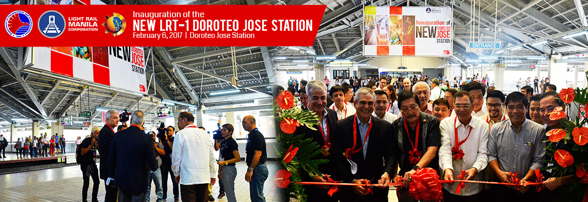Gov't, LRMC inaugurate newly improved LRT 1 Doroteo Jose station