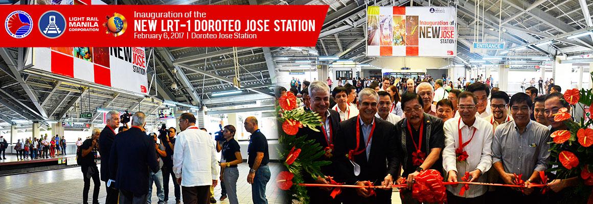 Gov't, LRMC inaugurate newly improved LRT 1 Doroteo Jose station