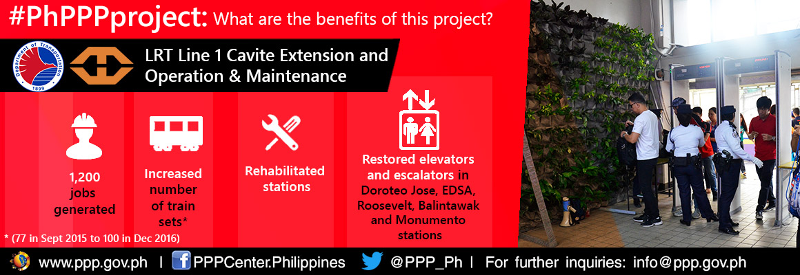 LRT 1 Extension and O&M Project Benefits