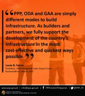 Statement of GMR-Megawide Cebu Airport Corp. President