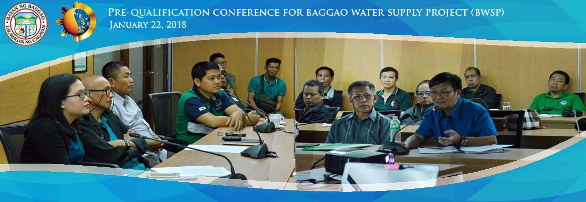 Baggao Water Supply Project Prequalification Conference