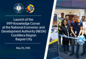 Launch of the PPP Knowledge Corner at the NEDA Cordillera Region in Baguio CIty