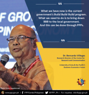 - On LGU PPPs: Statement of Dr. Bernardo Villegas, Research Director of the Center for Research and Communication