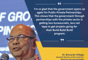 Statement of Dr. Bernardo Villegas, Research Director of the center for Research and Communication on PPPs