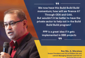 On PPPs in Build Build Build Program: Statement of Mr. Rex Ma. A. Mendoza