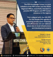 DED Eleazar Ricote in PPP Knowledge Corner