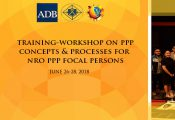 Training-Workshop on PPP Concepts and Processes for NRO PPP Focal Persons