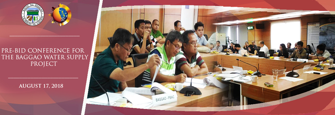 Baggao Water Supply Project pre-bid conference