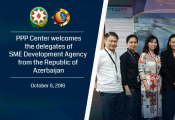 PPP Center welcomes the delegates of SME Development Agency from the Republic of Azerbaijan