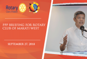 PPP Briefing for Rotary Club of Makati West