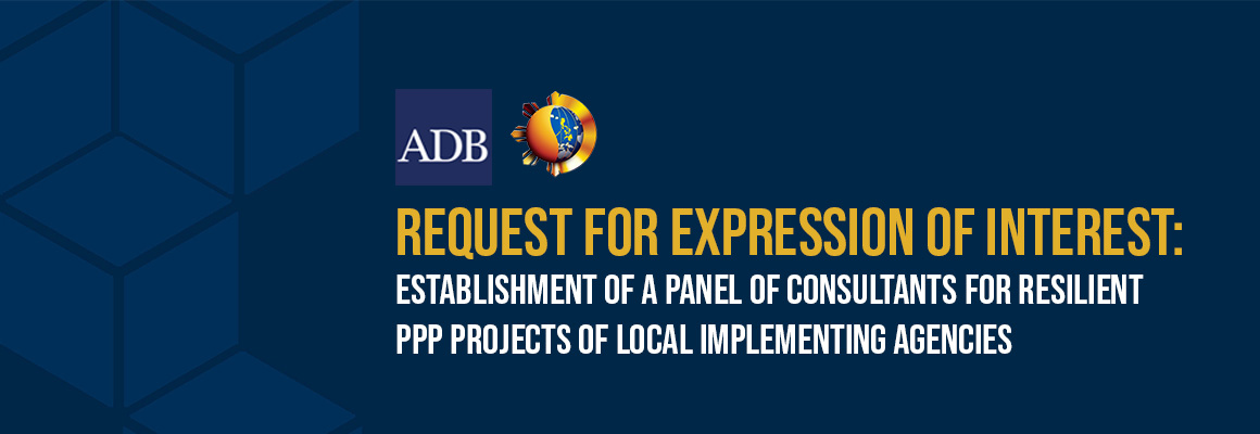 REOI for the establishment of Panel of Consultants of Resilient PPP Projects of Local Implementing Agencies