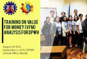 Value for Money Training for DPWH