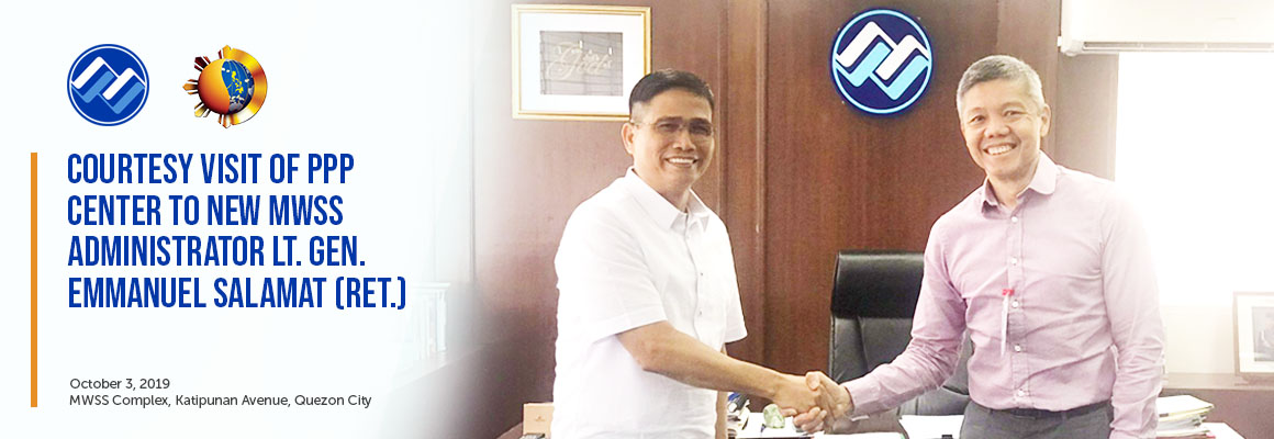 Courtesy Visit of PPP Center to New MWSS Administrator Lt. Gen. Emmanuel Salamat (Ret.)