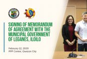 MOA signing with Municipal Government of Leganes Iloilo