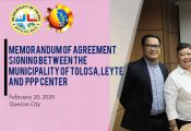 MOA Signing between Tolosa Leyte and the PPP Center