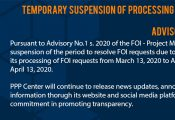 Suspension of FOI Request