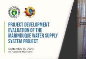 Project Development Evaluation - Marinduque WSSP