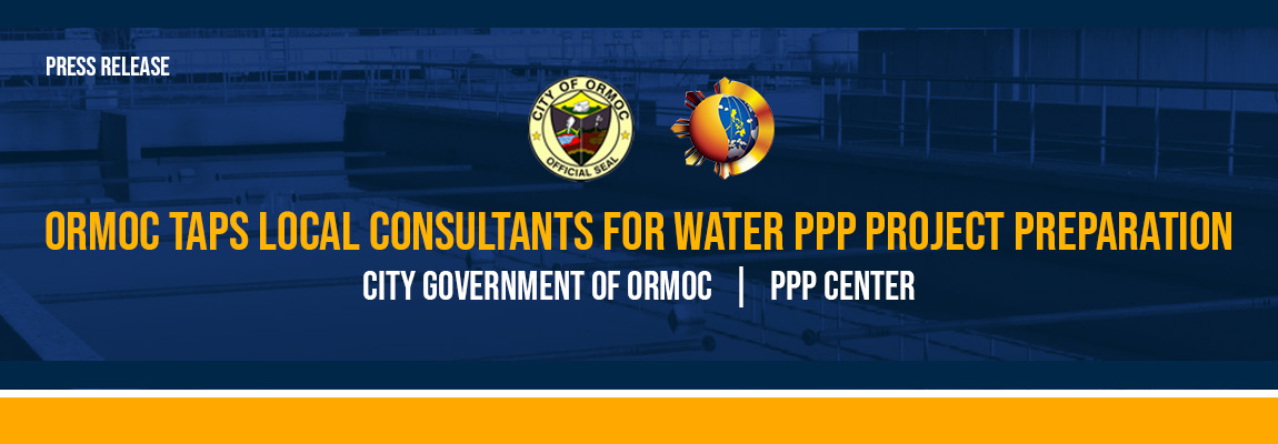 Ormoc taps local consultants for water PPP project preparation