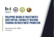 Philippine Board of Investments (BOI) Virtual Capability Building Training on Investment Promotion