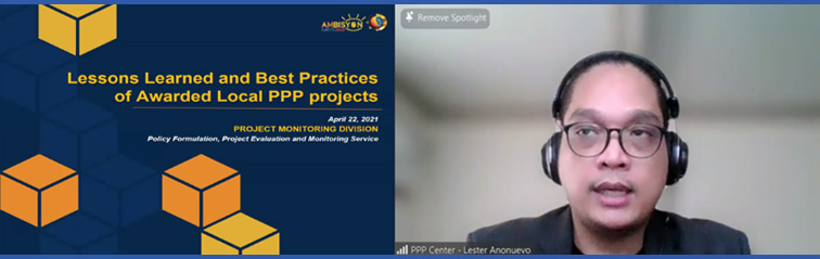 Image of Atty. Lester A. Añonuevo of the PPP Center Project Monitoring Division