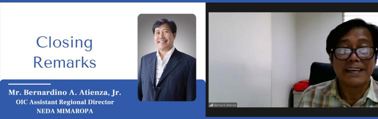 Image of NEDA MIMAROPA OIC-Assistant Regional Director Bernardino A. Atienza, Jr