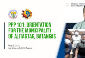 Picture of PPP Center conducting PPP 101 for the Municipality of Alitagtag, Batangas