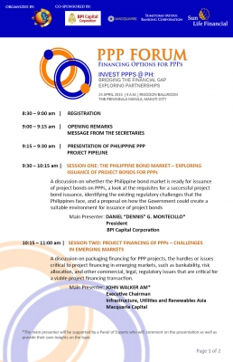 PPP Forum Programme-Page 1